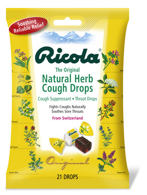 Ricola original herb cough drops contain the goodness of mountain herbs. This classic Ricola product has a distinctive cube shape and fine herb flavor.
