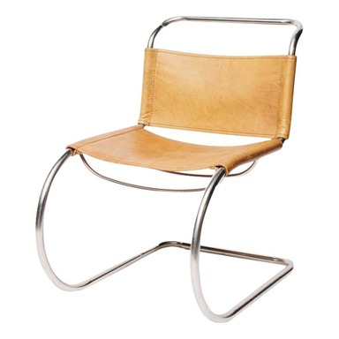 Mies Van der Rohe Inspired Chrome Vintage Chair