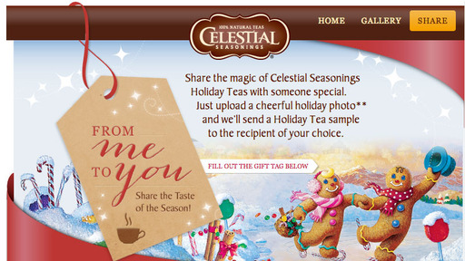 Send holiday cheer to a special someone at Facebook.com/CelestialSeasonings