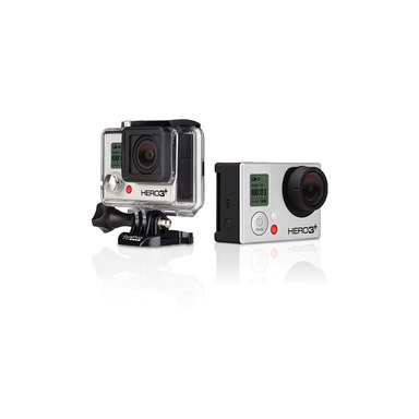 HERO3+ Black Edition in and out of waterproof housing