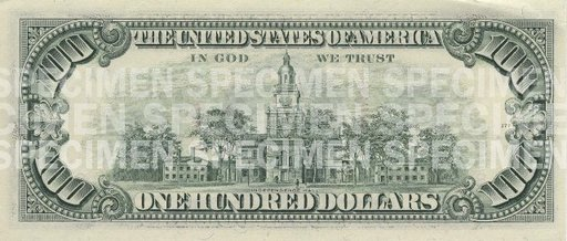 $100 Note - Issued 1990 - 1996 (Back)