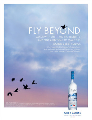 GREY GOOSE FLY BEYOND Print Creative