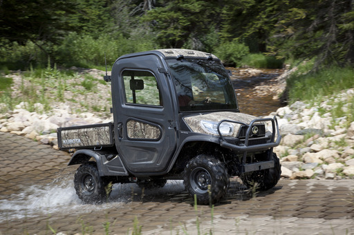 Completing Kubota's X-Series lineup is the all-weather RTV-X1100C, offering a quiet, factory-installed, fully-enclosed unibody cab that features a powerful heating and air conditioning system.