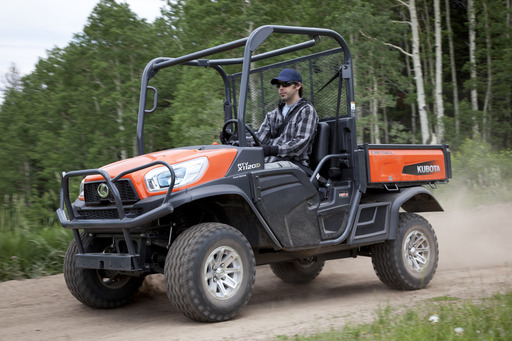 From its proven 24.8 HP diesel engine and ground speed of up to 29 mph to its blue-tinted halogen headlights, the Kubota RTV-X1120D is a new deluxe model and a step up in power, comfort and style.