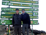 Barry and Matthew Leonard Summitting