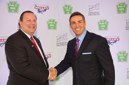 Unequal Technologies CEO Rob Vito with Spokesman Kurt Warner