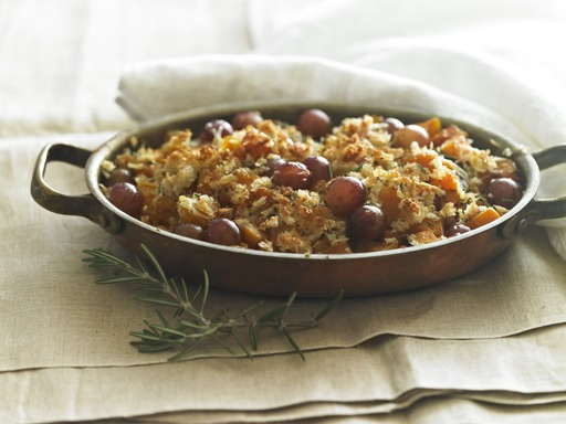 Butternut Squash, Rosemary & Grape Bake