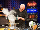 Chef Kevin Cottle races against the clock in a Kitchen Casino challenge