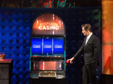 Host Bill Rancic and Kitchen Casino Slot Machine