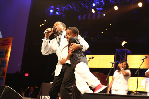Gospel music sensation Smokie Norful and son Ashton hit the stage for a free night of stirring, uplifting music during  2013 McDonald's® Inspiration Celebration® Gospel Tour.