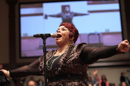 Gospel music sensation Tamela Mann hit the stage for a free night of stirring, uplifting music during  2013 McDonald's® Inspiration Celebration® Gospel Tour.