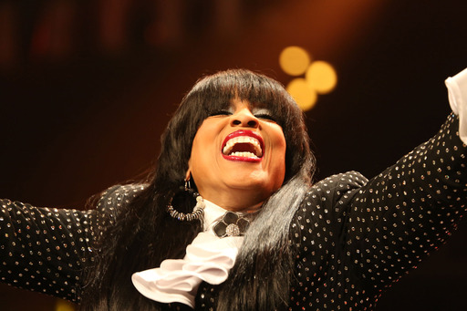 Vickie Winans, gospel music artist/comedienne and host of the 2013 McDonald's® Inspiration Celebration® Gospel Tour, kept crowds laughing during the free concert series.