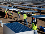 Approximately 700 jobs created during peak construction of the 250-megawatt California Valley Solar Ranch.