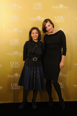 Desiree Bollier, Milla Jovovich 10 Jahre Wertheim Village Chic Outlet Shopping