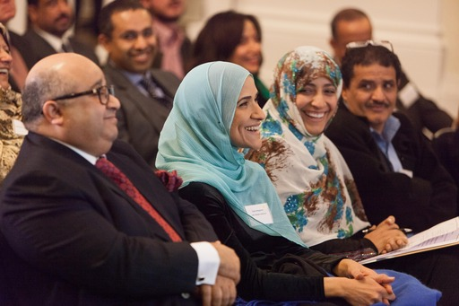 Sheikh Mohamed Bin Issa Al Jaber was joined by former US Presidential Advisor Dalia Mogahed, Nobel Peace Prize Laureate Tawakkol Karman and a packed hall for the London launch of the MBI Al Jaber Media Institute in Sana'a, Yemen