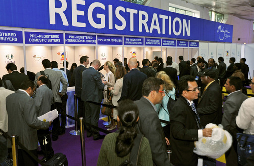 Business Visitor response at SATTE  Registration counter