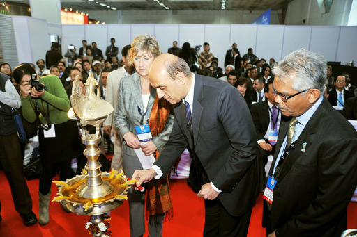 Lamp-lighting during Inauguration at SATTE 2013