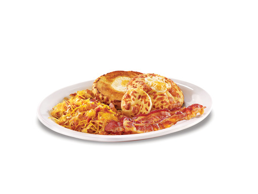 The hearty ''Hobbit Hole Breakfast,'' featuring two eggs fried into the center of grilled cheddar bun halves served with bacon and crispy hash browns, will leave even the hungriest of Hobbits satisfied