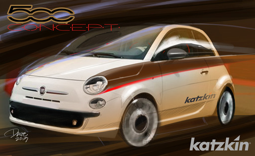 "Katzkin's Fiat 500 concept showcases an ""urban expressive"" sports wrap with Mopar exterior accessories."
