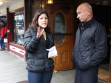 Season 4 Premiere: Anthony Melchiorri checks in with designer Blanche Garcia outside of the Alaskan Hotel & Bar.