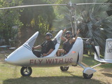 "Costa Rica: ""Trip Flip"" traveler Kimi gets ready to experience the Costa Rican jungle in an open- air gyrocopter."