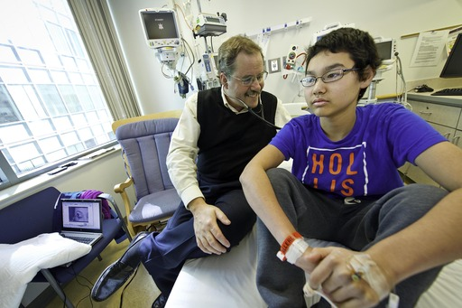 Nick Wilkins, age 15, six month post T Cell Therapy treatment with Stephan Grupp, MD, PhD, pediatric oncologist at The Children's Hospital of Philadelphia