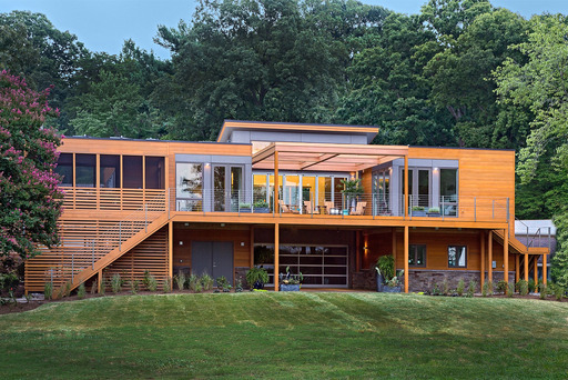 The second home to receive the gold in the Professional Builder 2014 Design Awards is the Severna Park, MD, Breezehouse, in the category of Green Homes.