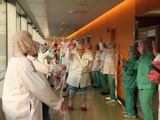 Penn State Hershey Medical Center raises hands for breast cancer prevention as second place winner of Medline's Pink Glove Dance viral video contest. Nearly 600,000 votes; $1M raised for cancer.