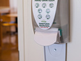 DebMed hand sanitizer dispenser