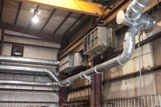 Imperial's galvanized-steel internal piping was custom designed for JADCO Manufacturing and the fabricator's challenging weld smoke collection requirements.