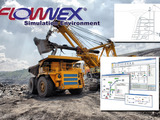 Flownex Simulation Environment can be used to optimize and understand a variety of complex mining systems including thermal-fluid systems in mining equipment.