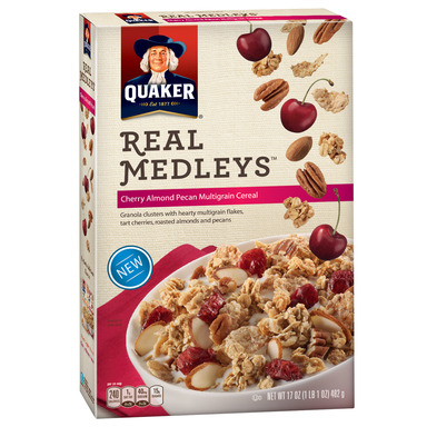 Quaker Real Medleys Cereal Cherry Pecan Almond