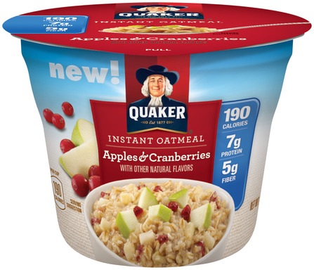 Quaker Instant Oatmeal Cups Apples & Cranberries
