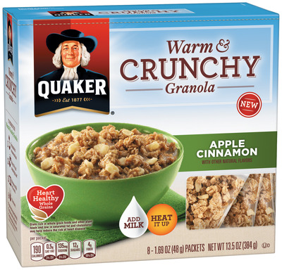 Quaker Warm & Crunchy Granola Apple Cinnamon