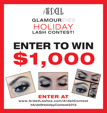 Enter Ardell's GlamourEyes Holiday Lash Contest for your chance to win $1,000!