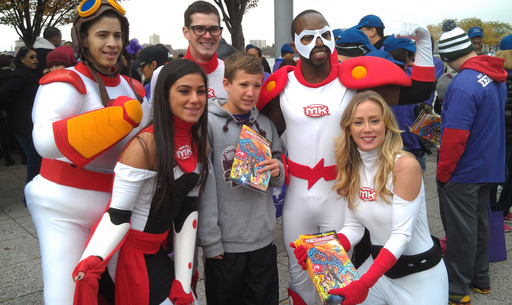"Jack, the inspiration for the main character in ""Medikidz Explain Epilepsy,"" is pictured with the Medikidz superheroes at the Epilepsy Foundation of Metropolitan New York's walk for epilepsy awareness"