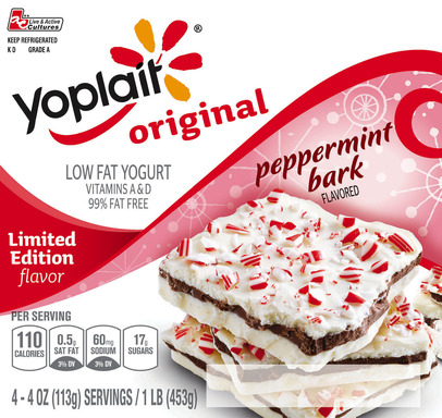 Peppermint Bark Flavored Yogurt