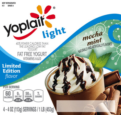 Mocha Mint Flavored Yogurt
