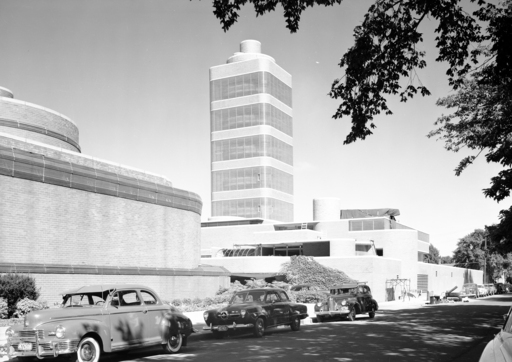 Historic Frank Lloyd Wright-designed Research Tower on SC Johnson's campus in Racine, Wisc. in 1950