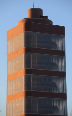 Frank Lloyd Wright's Research Tower is located at the heart of SC Johnson's global headquarters in Racine, Wis., and stands 153 feet high with 232 stairs that climb 15 stories.