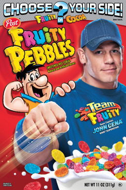 WWE's John Cena is Captain of Team Fruity Pebbles