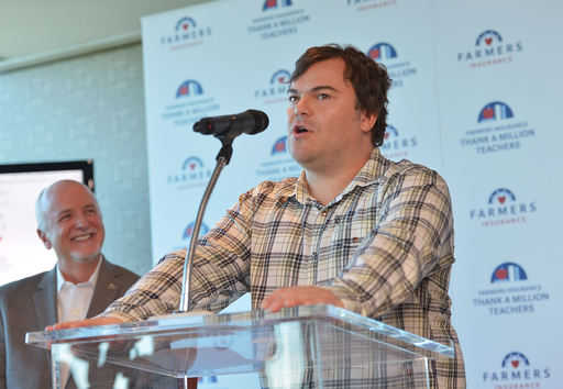 Actor/Comedian Jack Black helps introduce Thank A Million Teachers program on December 23 in Los Angeles; invites America to thank educators at www.thankamillionteachers.com.