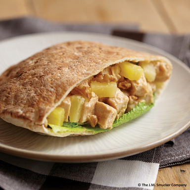 Nutty Chicken and Pineapple Pocket created by Austin O., age 9, from Burlington, CT