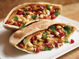 Pomegranate Bejeweled Cashew Chicken Pockets created by Sailor M., age 12, from Santa Clara, UT