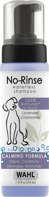 This no muss, no fuss all-natural product takes the dirty work out of bathing.Owners simply apply the foaming agent to their pet's coat to remove top-level dirt and odors, resulting in a clean coat.