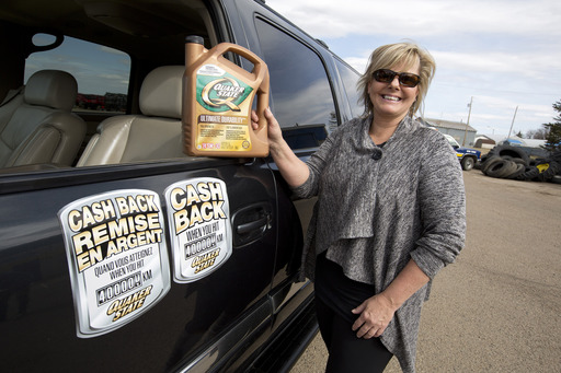 Terry Link of Killam, Alberta, Canada hits the 400,000 kilometer mark while choosing Quaker State motor oil.