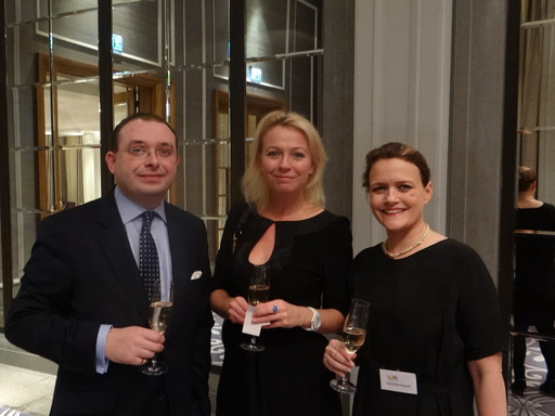 PRCA Director General Francis Ingham joins WPR Members for a celebratory glass of bubbly