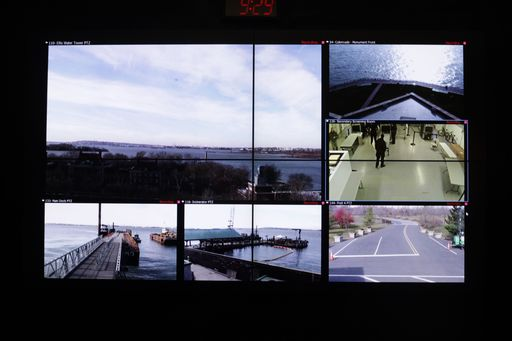 Digital video for the Statue of Liberty and Ellis Island monitors security checks, supply deliveries, boat dockings and other water activity.