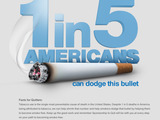 1 in 5 Americans can dodge this bullet infographic