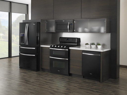 The Whirlpool® Black Ice kitchen suite elevates the design and sophistication of home appliances to dramatic beauty and refined style, making the kitchen suite as distinctive as our consumer.